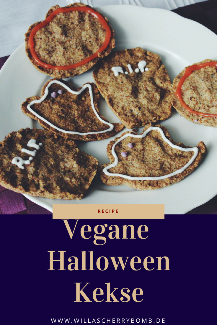 willascherrybomb vegane halloween kekse cookies recipe rezept gesund healthy