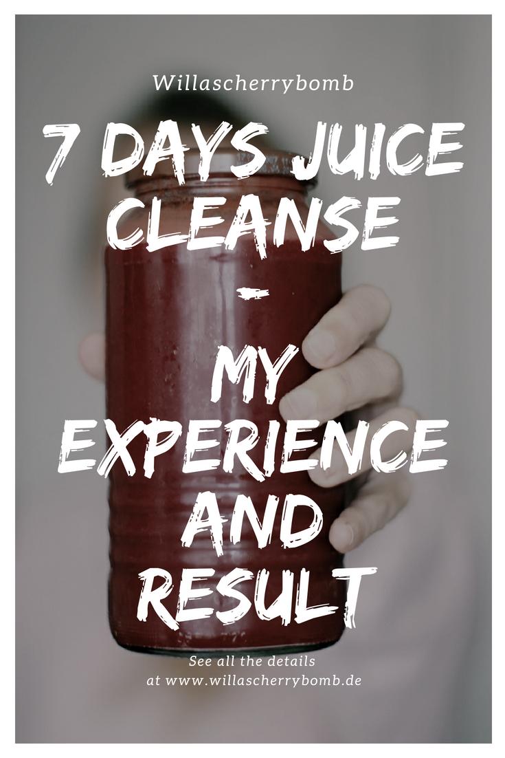 willascherrybomb 7 days juice cleanse tage saft kur erfahrung