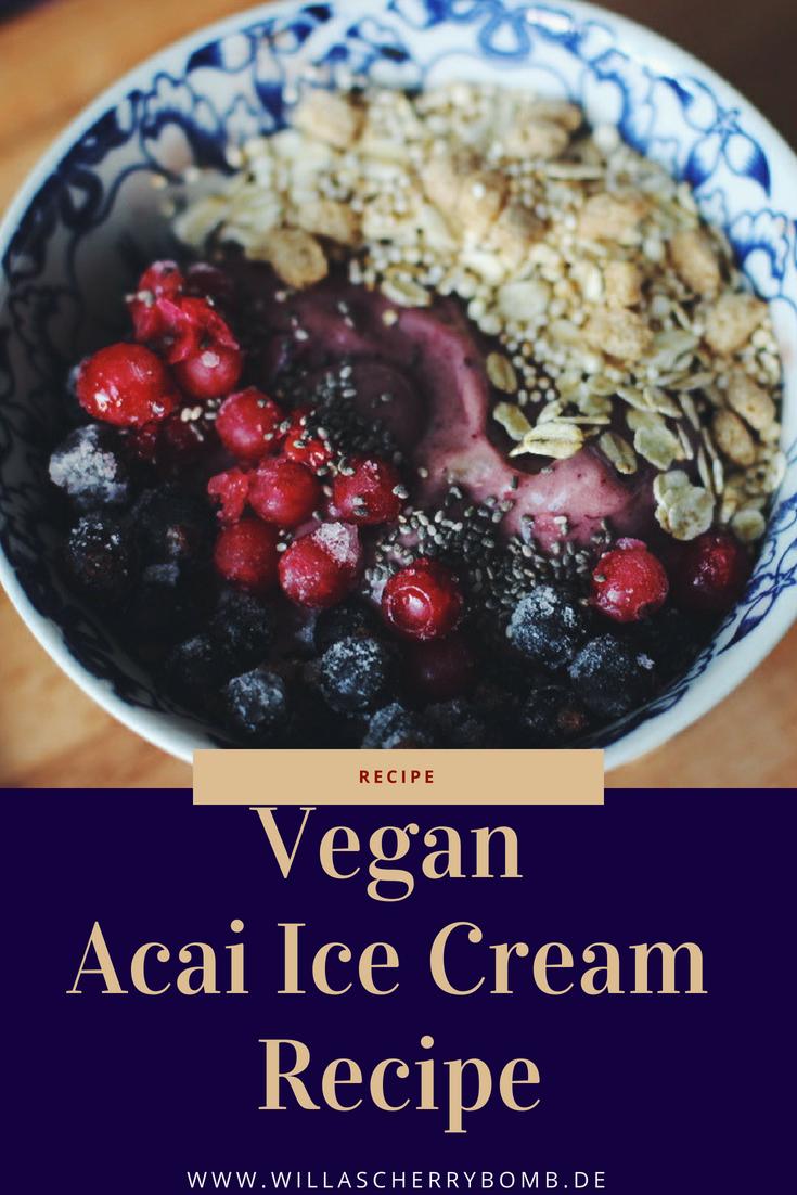willascherrybomb vegan acai ice cream recipe rezept
