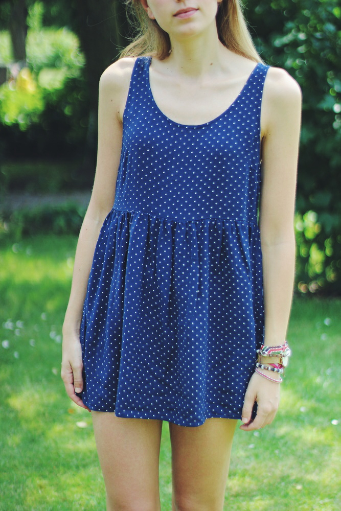 willascherrybomb blue polka dot dress summer outfit