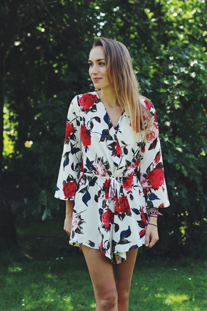 willascherrybomb blumen playsuit flower outfit summer
