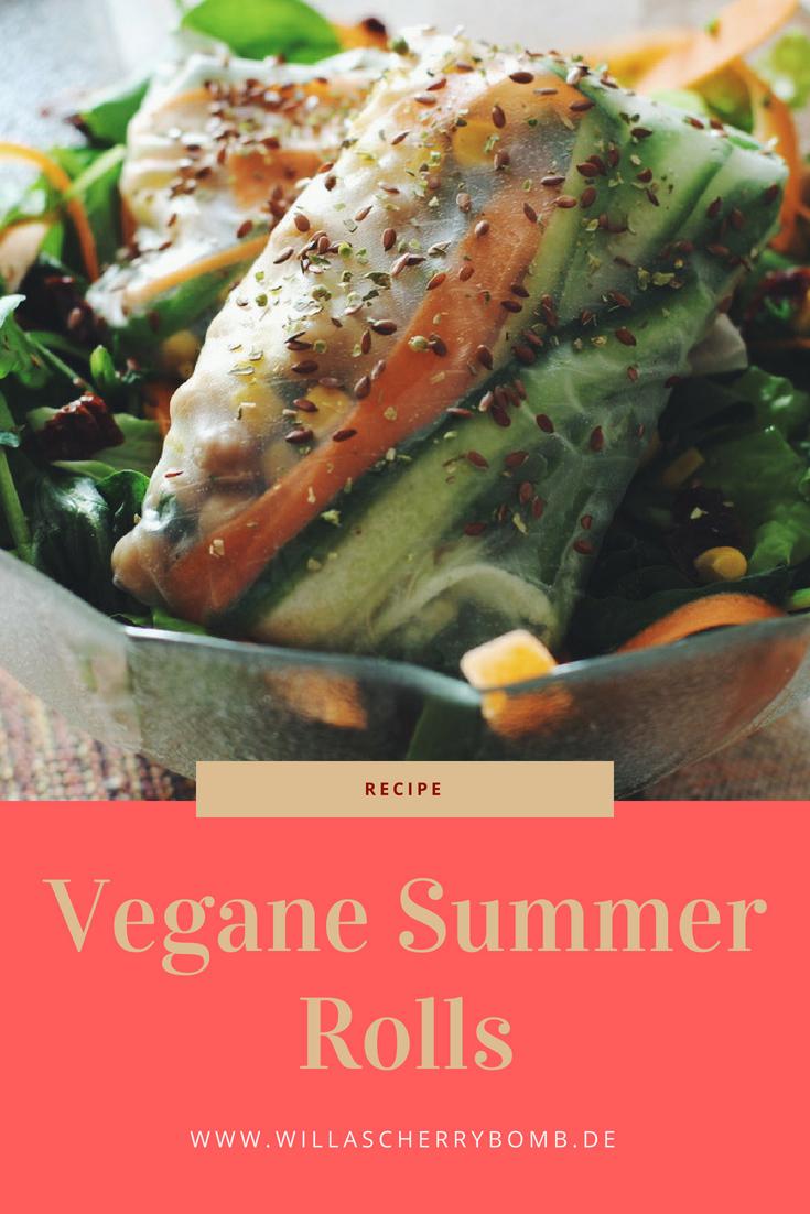 willascherrybomb vegane summer rolls rezept vegan lecker gesund leicht