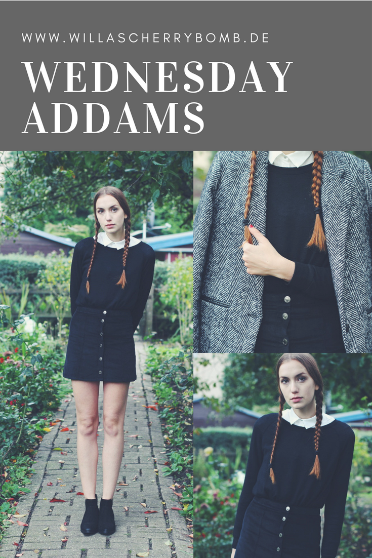 willascherrybomb blogtober halloween kostüm addams family wednesday diy