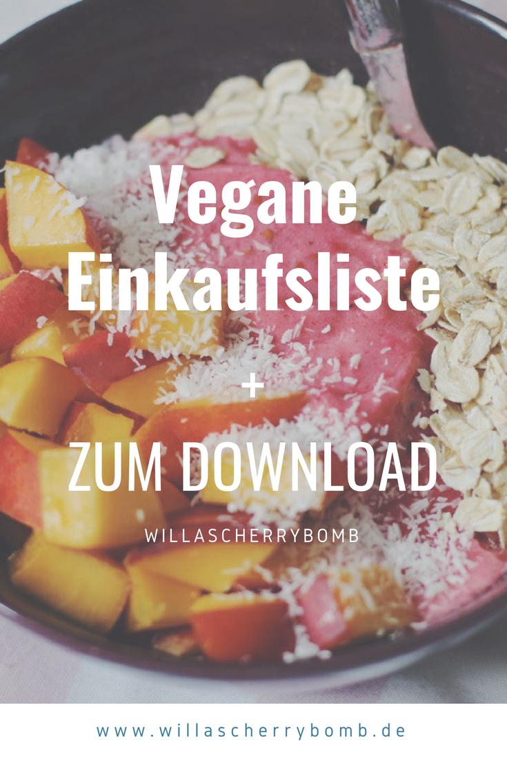 willascherrybomb vegane einkaufsliste download lebensmittel vegan gesund günstig