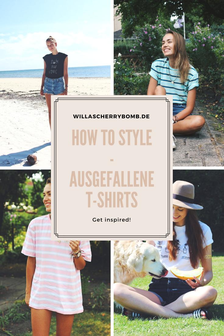willascherrybomb how to style ausgefallene t-shirts kombinieren shirts outfit inspirationen