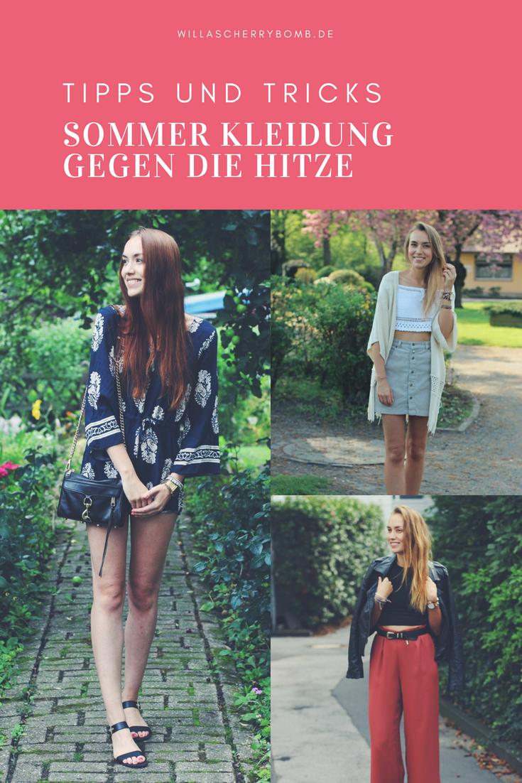 kleidungstipps für den sommer outfit ideen inspirationen gegen die hitze