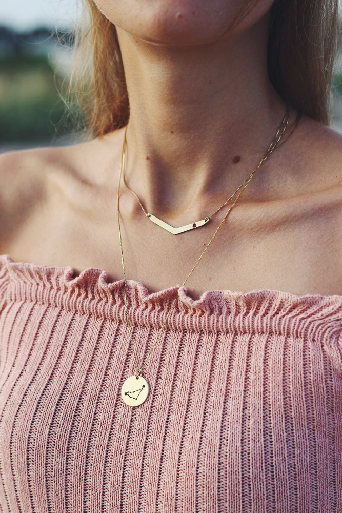 willascherrybomb how to style kette mit gravur outfit blogger inspiration
