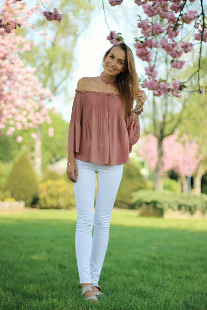 willascherrybomb how to style off-shoulder kleider tops mode blogger outfit