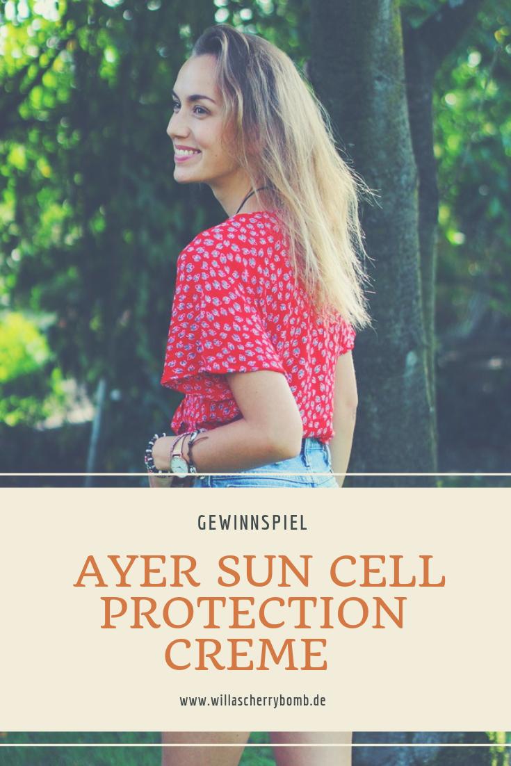 Ayer Sun Cell Protection Creme gewinnspiel willascherrybomb