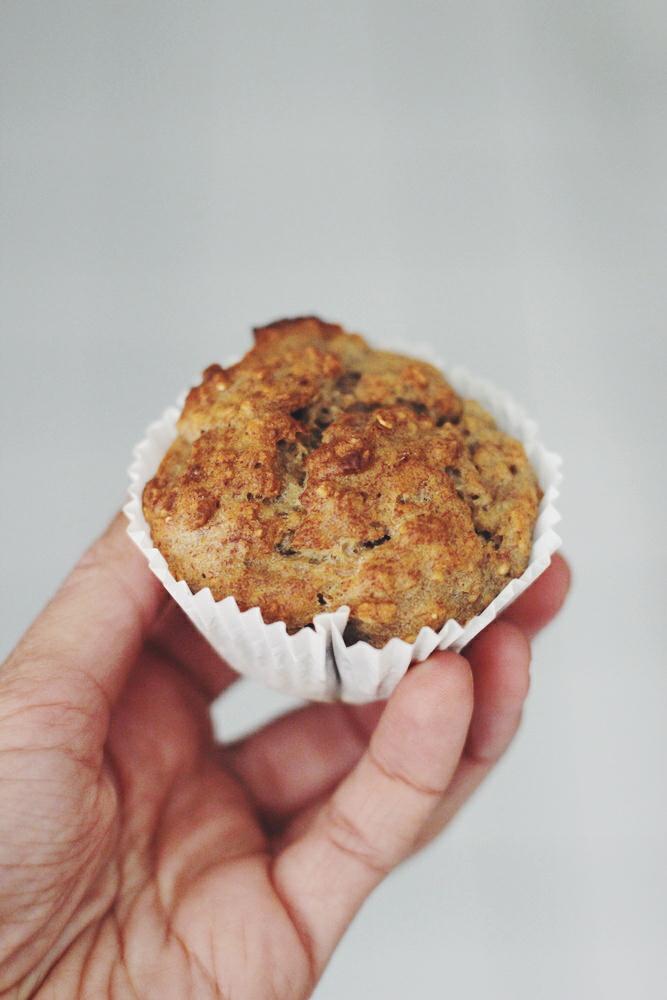 3 Zutaten vegane Muffins Rezept - Fettfrei + Zuckerfrei