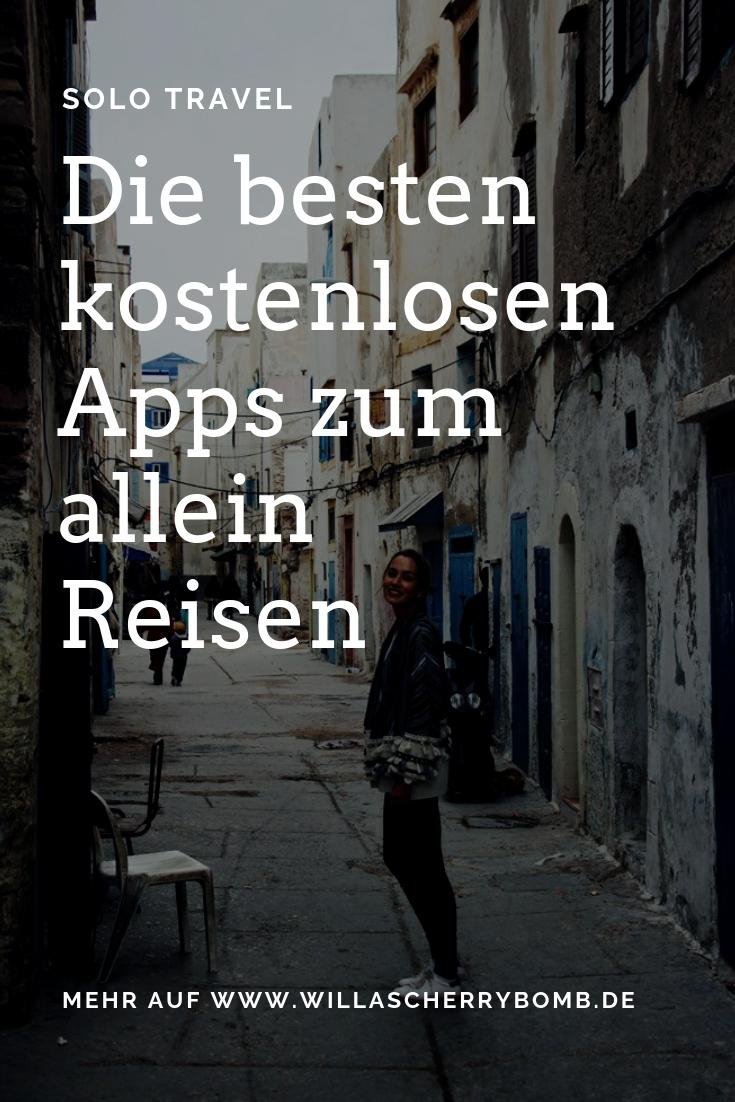 Solo Travel - Die besten kostenlosen Apps zum allein Reisen - Willascherrybomb
