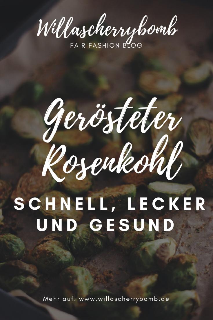 Gerösteter Rosenkohl Rezept schnell lecker gesund vegan low carb