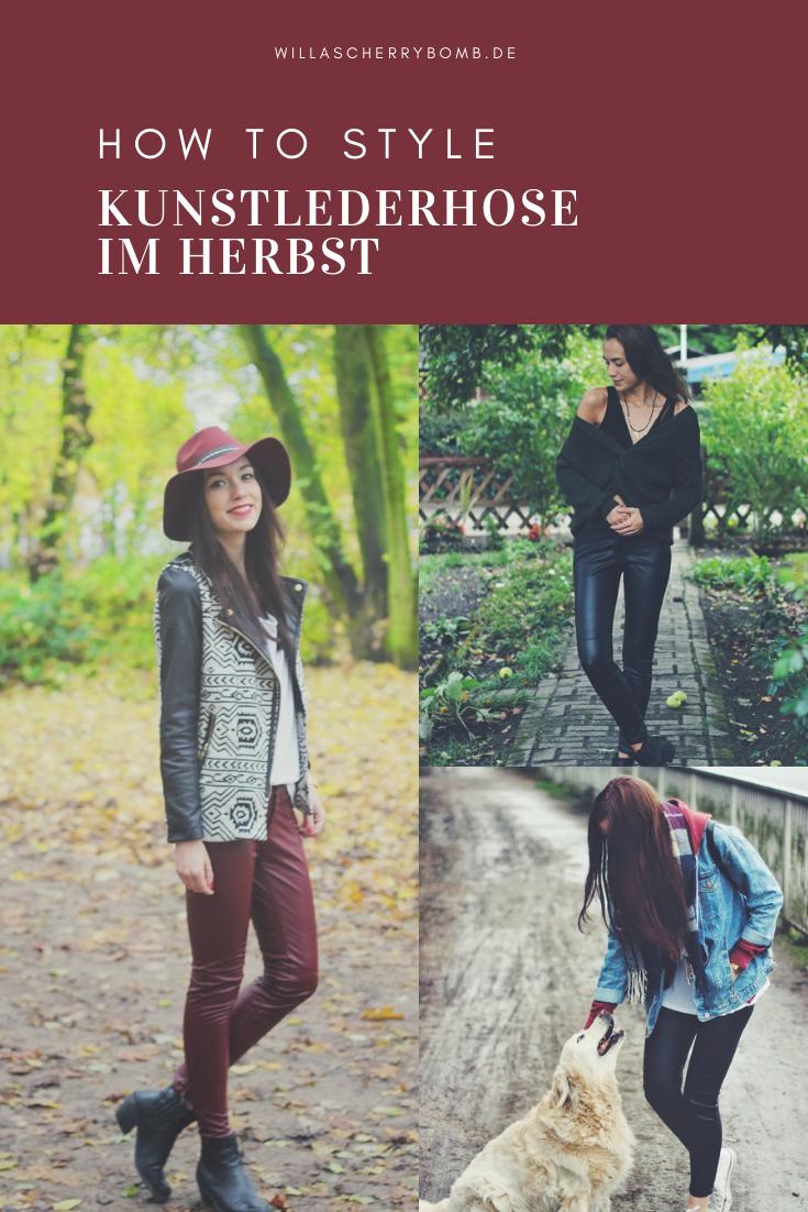 Pinterest How to Style - Kunstlederhose im Herbst