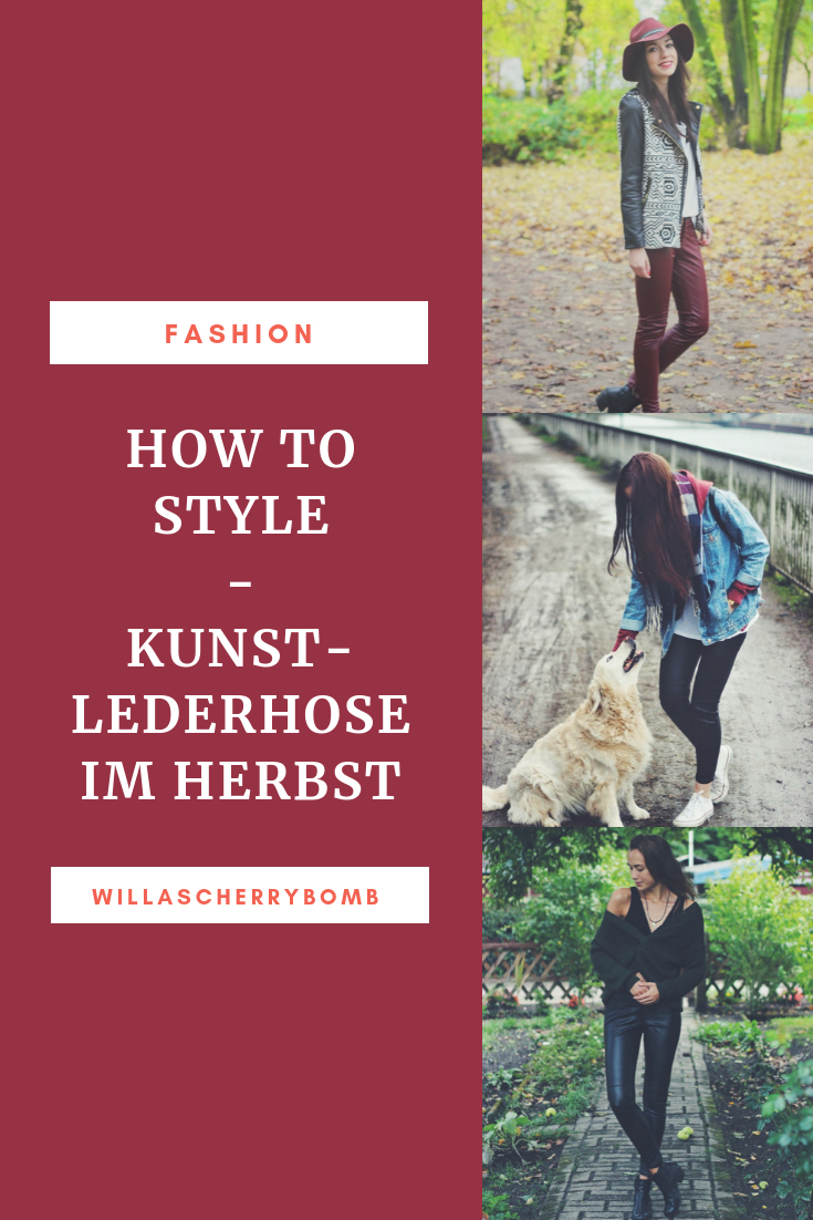 Pinterest yviwantsless How to Style - Kunstlederhose im Herbst