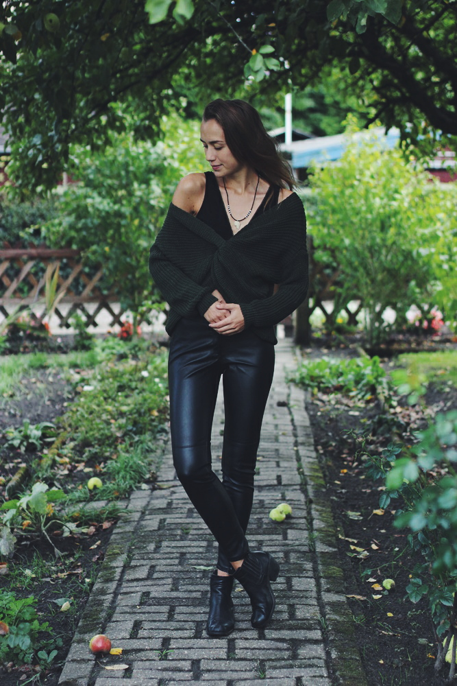 How to Style - Kunstlederhose im Herbst