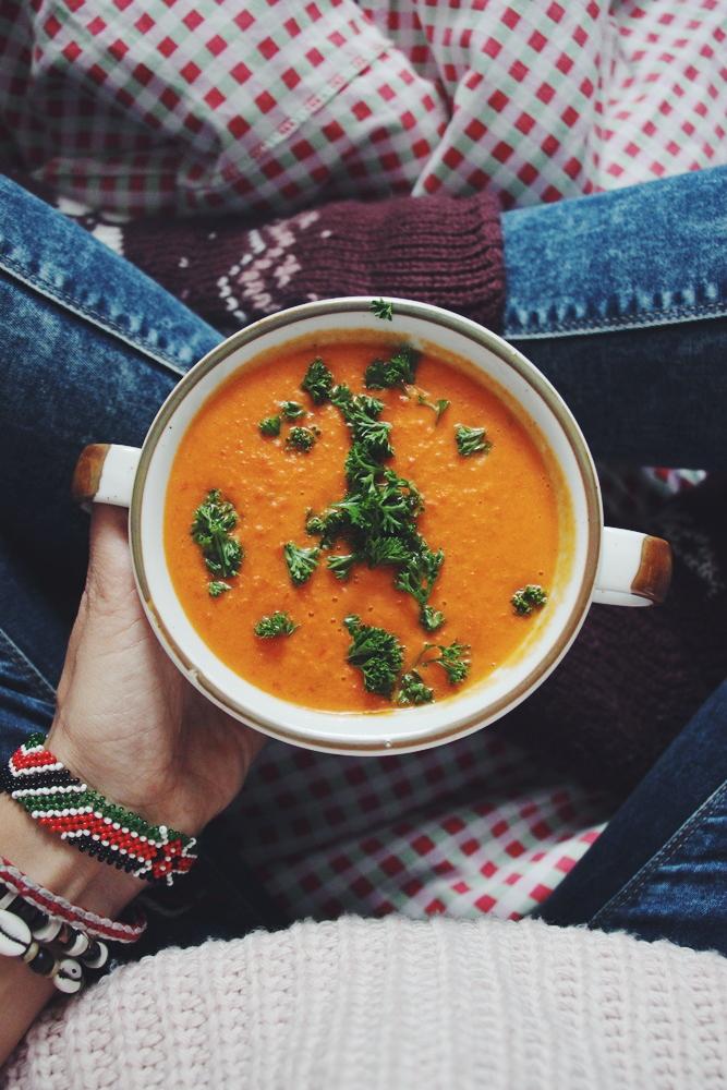 willascherrybomb Paprika-Ingwer-Curry Suppe Rezept gesund vegan lecker