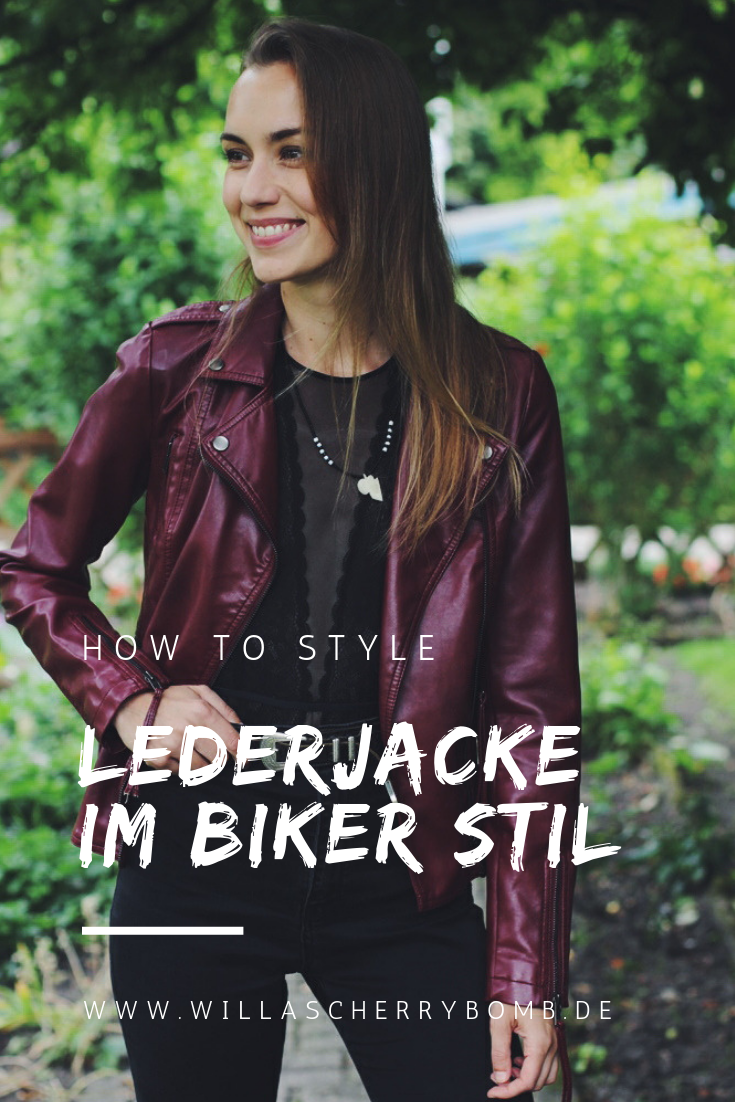 how to style lederjacke im biker stil willascherrybomb