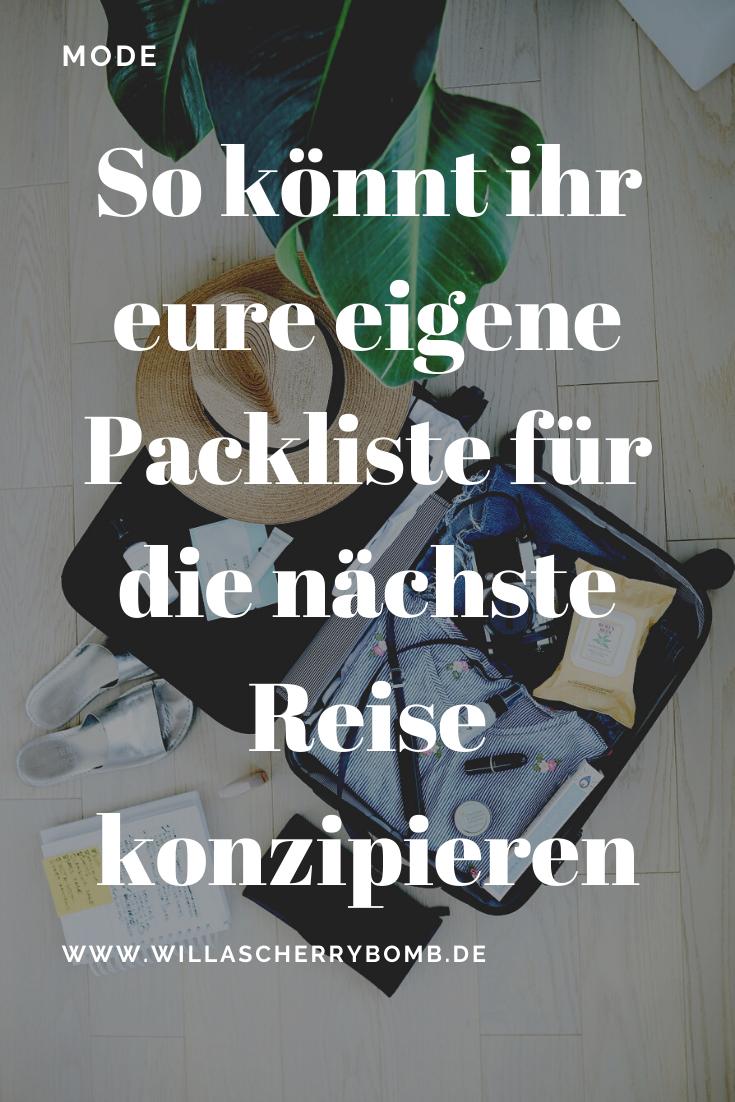 So könnt ihr eure eigene Packliste für die nächste Reise konzipieren