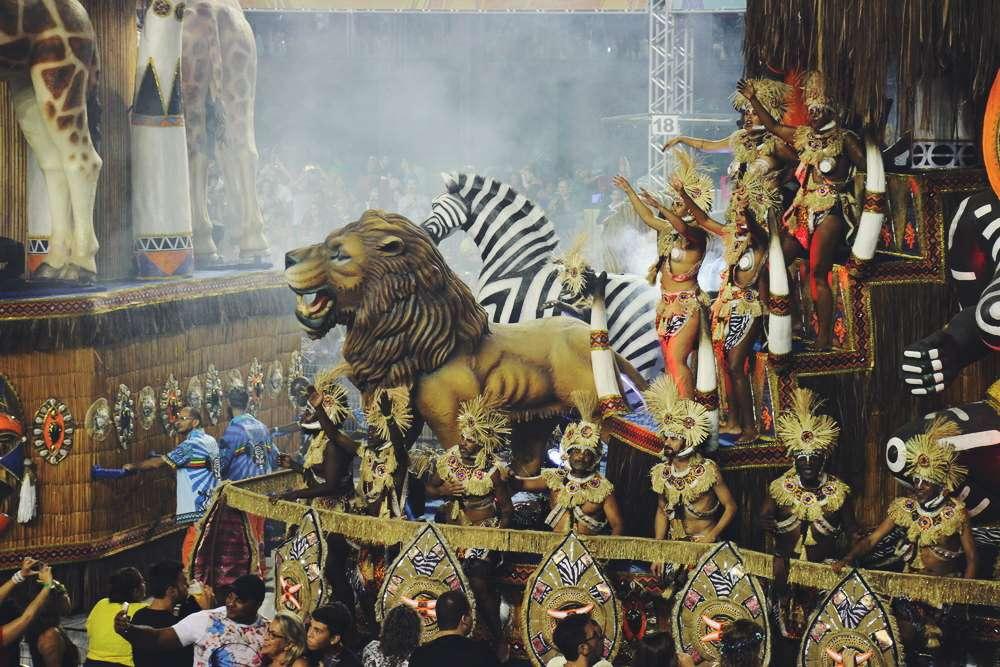 Rio de Janeiro Brasilien Karneval